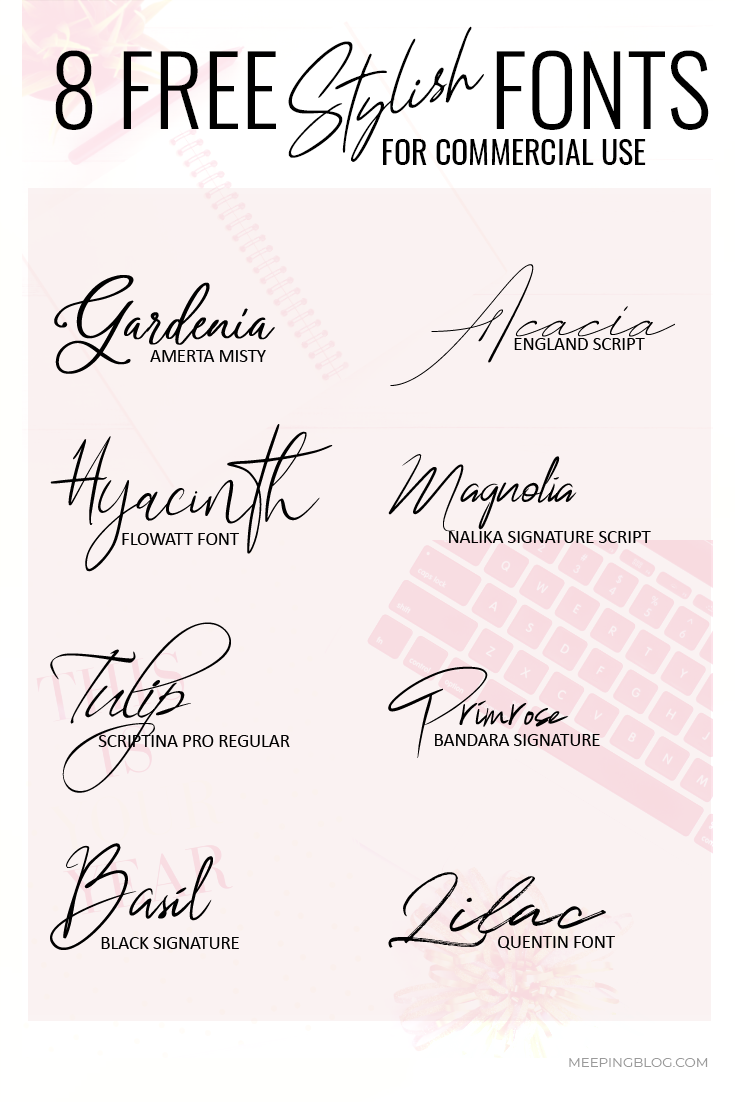 8 Free Stylish Fonts for Commercial Use (Blogs Included)
